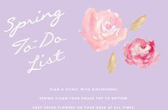LOVE THIS! Spring To Do List from one of our favorite blogs, theglitterguide.com