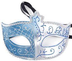 City Block Morefun Party Venetian Painting Masquerade Double Color Half Face Mask (Blue) - http://www.halloween.quick-reviews.com/6113/city-block-morefun-party-venetian-painting-masquerade-double-color-half-face-mask-blue.html