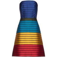Mary Katrantzou Freesia strapless striped colour-block dress