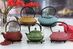 Cast Iron Teapots: Tetsubin Style Cast Iron Tea Kettles, Tea Cups & Trivets SALE - with trivet Perfect Cup Of Tea, My Cup Of Tea, Copper Tea Kettle, Tea Riffic, China Teapot, Teapots Unique, Tea Art, Tea Service, Drinking Tea