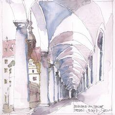 https://flic.kr/p/qT19N4 | Dresden II, D | Bogenhalle am Stallhof, 30.12.2011