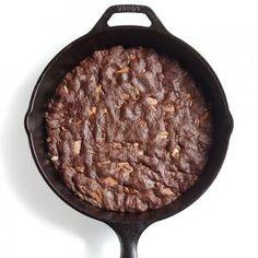 Fudgy Skillet Cookie Recipe | CookingLight.com #myplate #dairy #wholegrain