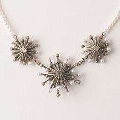 Michael Michaud Fire Wheel Pearl Necklace