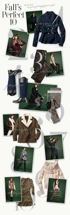 Fall's Perfect 10 - peplum jacket, maxi dress with furry vest, stylish and classy skinnies, and many more! #Fall #Fashion #Outfits #VSinsider