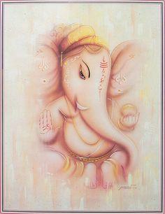 Lord Ganesha (Reprint on Paper - Unframed))