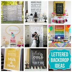 lettered party backdrop ideas #party #backdrop