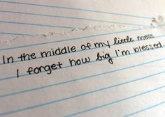 In the middle of my little mess I forgot how big IM blessed. -More inspiration at www.LifePulp.com