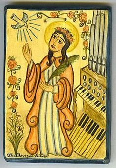 St. Cecilia: Patron saint of music and musicians.