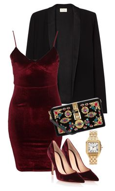 """""""Untitled #2844"""" by carmelaromio ❤ liked on Polyvore featuring American Vintage, Glamorous, Gianvito Rossi, Dolce&Gabbana and Cartier"""