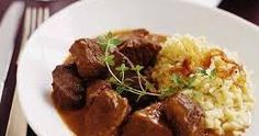 Beef Stew with Red Currant Jelly and Cream