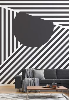 Sperry Dissect Black and White Wall Mural Striped Wallpaper Black And White, Dazzle Camouflage, Camouflage Patterns, Geometric Wallpaper Murals, Wallpaper Designs, Camouflage Wallpaper, Decorating Your Home, Interior Decorating, Bohemian Interior