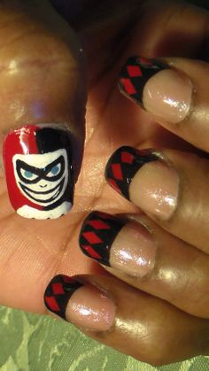 Harley Quinn Nail Art Try These Fun Nails For Anytime Enjoy And Thanks