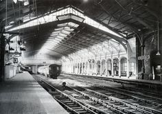 A quiet interlude at Bristol Temple Meads Old Station.  Brunel's original structure is beautifully illuminated.