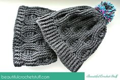Crochet Infinity Scarf And Crochet Beanie Free Pattern | Beautiful Crochet Stuff