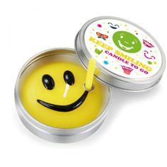 Smiley-Kerze für unterwegs - Geschenke von Geschenkidee