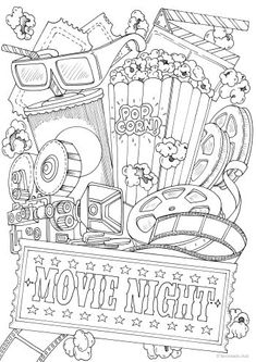 Fantasy Printable Adult Coloring Pages from Favoreads Food Coloring Pages, Detailed Coloring Pages, Spring Coloring Pages, Quote Coloring Pages, Printable Adult Coloring Pages, Disney Coloring Pages, Coloring Books, Colouring Sheets For Adults, Coloring Sheets