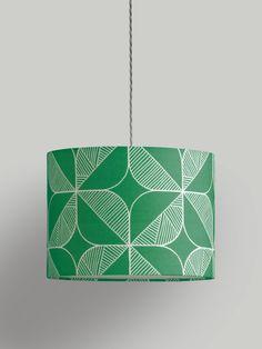 Rosette Lampshade – Emerald - Emerald / Large (40Ø x 29cm)