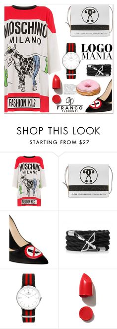 """logomania"" by paculi ❤ liked on Polyvore featuring мода, Moschino, NARS Cosmetics и francoflorenzi"