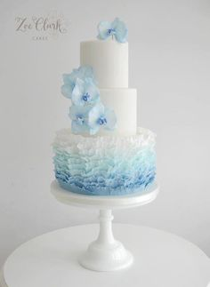 wedding cakes Informations About Featured Wedding Cake: Zoë Clark Cakes; Floral Wedding Cakes, Elegant Wedding Cakes, Cool Wedding Cakes, Beautiful Wedding Cakes, Gorgeous Cakes, Wedding Cake Designs, Pretty Cakes, Wedding Favors, Wedding Rings