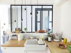 Une verrière d'intérieur pour ma cuisine.