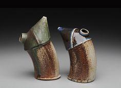 "bethelart:    Christy Wetzig  ""Twin Soy Bottles""  soda fired stoneware  2010  http://www.christywetzig.com/"