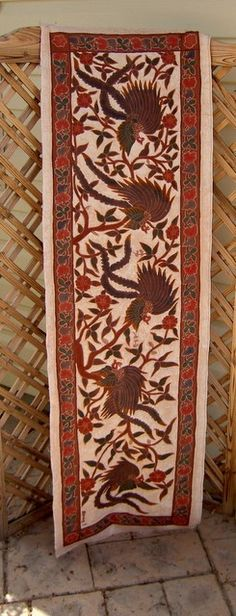 INDONESIAN BATIK ART ethnic textile home decor handmade  Jungle Birds from MyGypsyCottage on Etsy on Etsy, $55.00