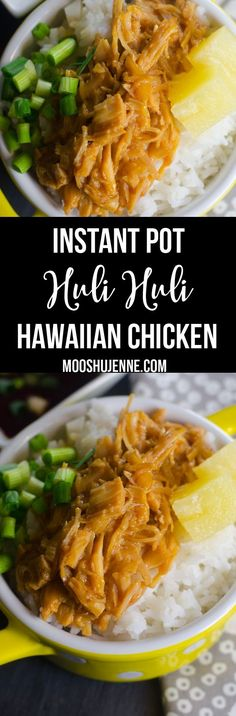 This Instant Pot Huli Huli Hawaiian Chicken is so sweet for spring! via @mooshujenne