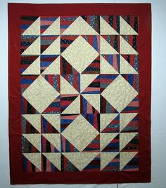 A great ways to use scraps to create an attractive QOV