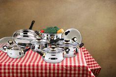 12pc Stainless Steel Pan Set