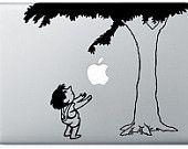 giving tree mac sticker - love
