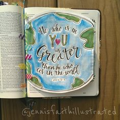 First tip-in! Great for when the page already has another entry. Check out my washi bookmark you inspired @michellehotchkissart . :) Inspired by #mercyme #greater. #illustratedfaith #journalingbible