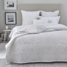 Avignon Bed Linen Collection - Soft Grey  from The White Company