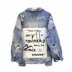 Denim Jacket Patchwork Tomorro ARISTOCRATIC Coats For Women, Jackets For Women, Clothes For Women, Basic Clothes, Dress Clothes, Denim Patchwork, Denim Coat, Outerwear Women, Woman Clothing