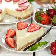 Low Carb Quarkkuchen mit Vanille-Topping