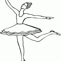 Give a like for this free and fun ballerina printable!
