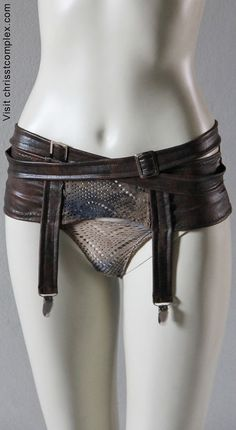 Steampunk Lingerie Suspender Girdle Garters Garter Belt by chrisst, $129.00