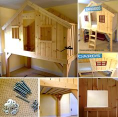 kid loft bed tutorial - Google Search