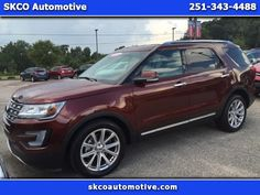 Used 2016 Ford Explorer Limited FWD for Sale in Mobile AL 36608 SKCO Automotive