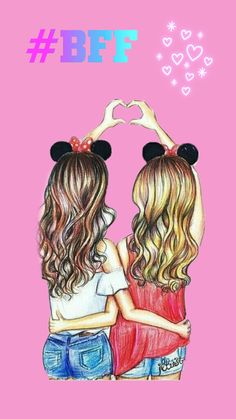 Bff Pictures To Draw Easy Drawings For Your Best Friend Drawing Art Best Friend Sketches, Friends Sketch, Best Friend Drawings, Bff Drawings, Easy Drawings, Bff Pics, Photos Bff, Best Friends Forever, 5 Best Friends
