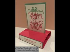 Pop Up Stand Up Card Tutorial with Big on Birthdays by Stampin' Up - YouTube