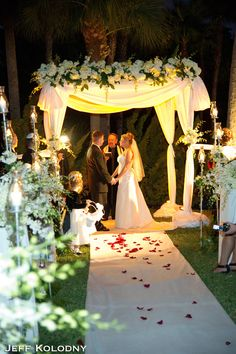 Wedding ceremony photo taken at Broken Sound Country Club.