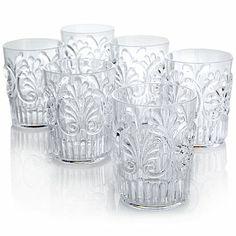 Le Cadeaux Fleur Set of 6 Water Glasses