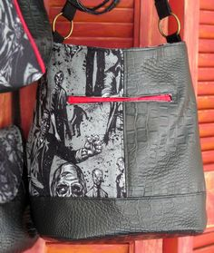 Bonnie is a slouchy hobo-style bag featuring a recessed zipper main closure and exterior double welt pocket. The oval-shaped bottom allows room for nearly anything.  This purse can be purchased with a shoulder strap or and adjustable cross body strap.