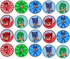 PJ Mask Edible Image inch Cookie or Cupcake Topppers in Home & Garden, Kitchen, Dining & Bar, Cake, Candy & Pastry Tools Pj Masks Cupcake Toppers, Pj Mask Cupcakes, 4th Birthday Parties, 3rd Birthday, Pj Masks Printable, Pjmask Party, Ben E Holly, Festa Pj Masks, Edible Printing