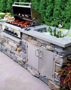 15 Beautiful Ideas for Outdoor Kitchens   Pinterest   Outdoor küche ...