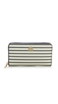 robinson printed zip continental wallet / tory burch