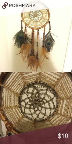 Beautiful dream catcher Brand new, bamboo and peacock feathers dream catcher Other