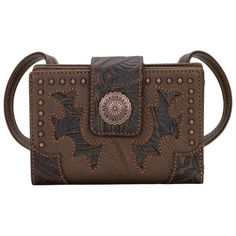Bandana By American West The Game Girl Collection Brown Purse Wallet e9dd3fe099