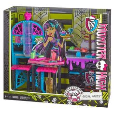 Monster High Social Spots Student Creepateria  Play Set NEW In Hand