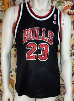 2eb00255a Michael Jordan Champion Jersey Vintage Chicago Bulls NBA Rare Youth Large XL  Nba Sports